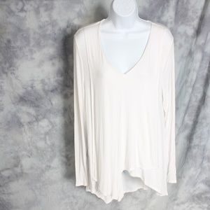 Jennifer Lopez ivory long sleeve top
